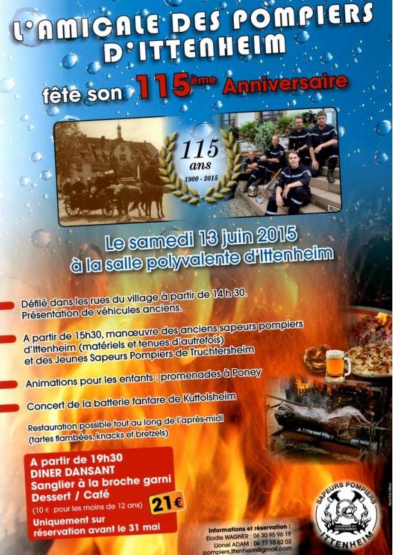 135 anniversaire pompiers ittenheim