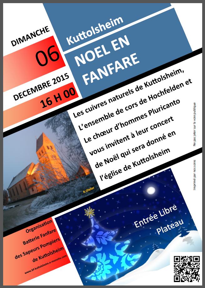 Affiche concert de noel 2015 newsletter